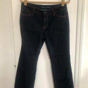 Dark Blue Midrise Bootcut Banana Republic Jeans